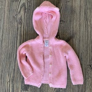 Carters Girls Button Down Knit Sweater